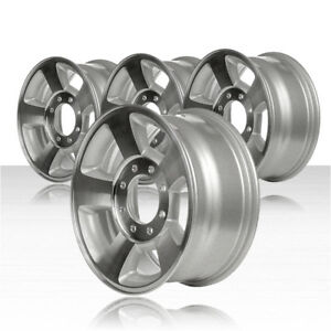 Revolve 17x8 Machined And Silver Wheel For 2003 2009 Dodge Ram 1500 Set Of 4