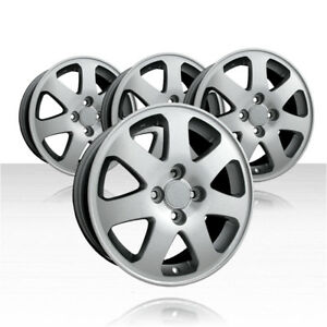Revolve 15x6 Machined And Silver Wheel For 1999 2005 Honda Civic set Of 4