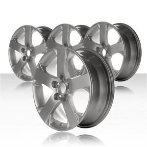 Revolve 17x6 5 Silver Wheel For 2006 2007 Mazda 5 set Of 4