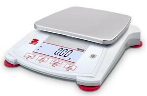Ohaus Spx6201 Lab Balance Compact Gold Portable Scale 6200gx0 1g ac Adapter new