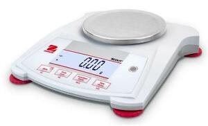 Ohaus Spx222 Lab Balance Compact Gold Portable Scale 200gx0 01g Ac Adapter new