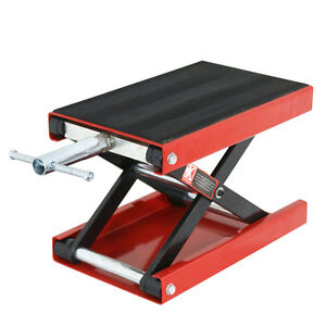 Motorcycle Scooter Crank Stand New 1100 Lb Mini Scissor Lift Jack Atv Dirt Bike