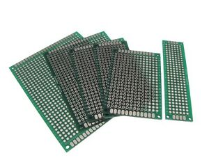 Double Side Prototype Board Perforated 2 54mm Through Hole Pack Of 6 Sizes