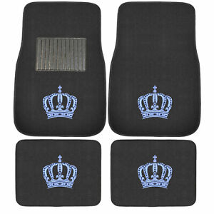 New 4pcs Set Ed Hardy King Red Cobra Car Truck Front Back Carpet Floor Mats