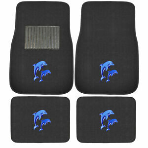 New 4pcs Set Ed Hardy King Bulldog Car Truck Front Back Carpet Floor Mats