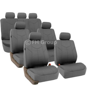 3 Row 7 Seaters Deluxe Leather Universal Seat Covers For Suv Van