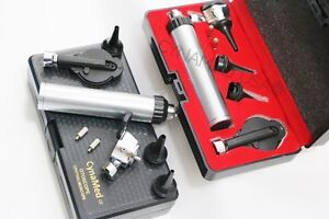 Otoscope Opthalmoscope Set Ent Medical Diagnostic Surgical Instruments w 2 Bulb