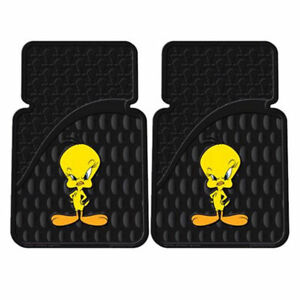 New 2pc Set Cartoon Looney Tunes Attitudetweety Bird Car Truck Front Floor Mats