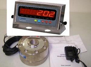 Compression Scale 100 000 Lbx 5 Lb lpd Load Cell 100k Stainless Steel Indicator
