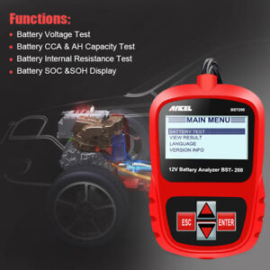 12v Battery Load Tester Car Battery Tester System Analyzer 100 1100 Ca Bst200