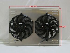 26 X 19 Universal Cross Flow Shroud And Dual 12 Black Fans