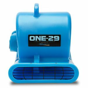 Bluedri One 29 Air Mover Carpet Dryer Blower Floor Fan High Cfm Low Amps Blue