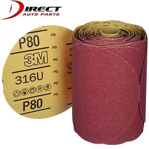 3m 1116 Stick It Adhesive Back 6 80 Grit Disc Sandpaper 100 Sheets roll 01116