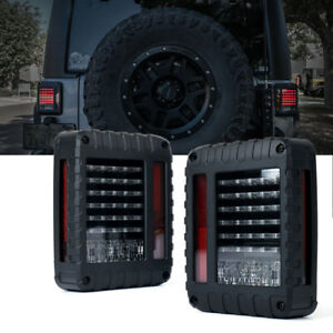 Xprite Led Tail Lights W Turn Signal Brake Reverse For 07 18 Jeep Wrangler Jk