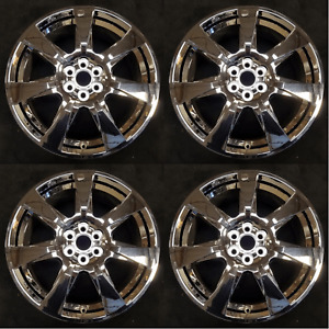 Set Of 4 20 Wheels W Chrome Clad Cover For 10 13 Cadillac Srx Oem Quality 4666