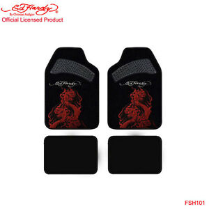 New Ed Hardy By Christian Audigier Cobra Front Rear Car Truck Carpet Floor Mats