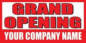 3 x6 Grand Opening Custom Company Name Banner Sign
