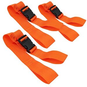 Line2design Spine Board Straps Disposable Backboard Straps Pack Of 3 Orange