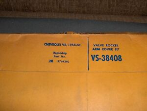 1958 1960 Chevy 348 409 Nos Valve Cover Gaskets Victor Part Vs 38408