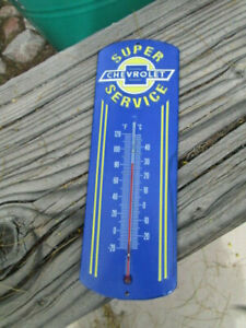 Genuine Chevrolet Service Thermometer Cool Looking Man Cave Game Room Shop Gm