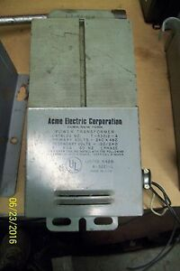 Acme Power Transformer 1 Phase Primary Volts 240 X 480 T 2 53012 a