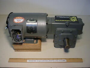 Baldor 3 4 Hp Motor With 40 1 Gearbox 3 Phase 230 460