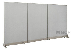 Gof Office Freestanding Partition 102 w X 60 h Office Divider