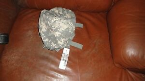 NWT GENUINE US MILITARY ACU Small Med ACH HELMET COVER W NVG FLAP + IR TABS