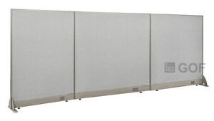 Gof Office Freestanding Partition 120 w X 48 h Office Divider