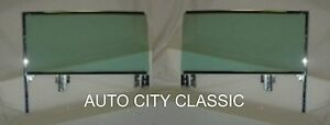 1959 1960 Buick Cadillac Chevy Olds Pontiac 2dr Ht Door Glass Assembled Set Gt