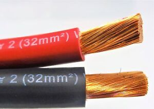 60 Ft Excelene 2 Awg Gauge Welding Battery Cable 30 Red 30 Black Usa Copper