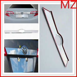 For 12 14 Toyota Camry Chrome Rear Door Handle Cover Tailgate Hatch Trim