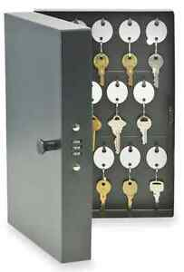 Key Lock Box Home Office Security Safe Storage For 28 Keys Wall Mount Cabinet