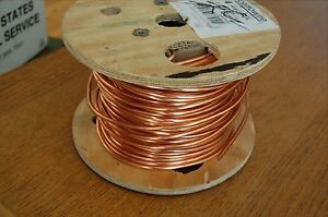 Bare Solid Copper Wire 4 Awg Partial 200 Ft Spool 175 Ft Cerrowire 050 2400h