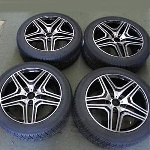 4 set 20 20x9 5 5x112 Wheels Tires Pkg Mercedes Benz Ml Series Gl Series R