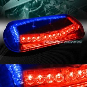 32 Led Red blue Car Emergency Roof Top Hazard Warn Flash Strobe Light Universal
