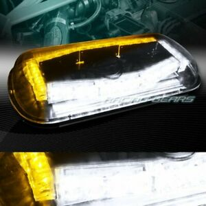 32 Led Whiteamber Emergency Roof Top Hazard Warn Flash Strobe Light Universal 9 Fits More Than One Vehicle