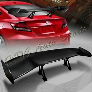 Type 2 3d Universal 57 Real Carbon Fiber Adjustable Rear Trunk Gt Spoiler Wing
