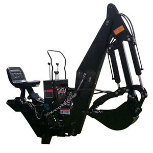 6 Ft 3 Point Backhoe With Thumb Excavator Tractor Attachment Kubota Deere