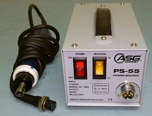 Used Asg Tl 3000 Electric Screwdriver With Cable And Ps 55 Power Supply