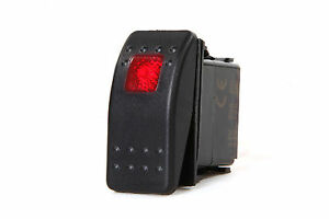 Marine Boat Trailer Rv Rocker Switch On Off Spst 3 Pin 1 Red Led Auto Motorcycle