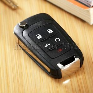 Flip Folding Remote Key Case Shell Fob 5 Buttons For Chevrolet Equinox Impala