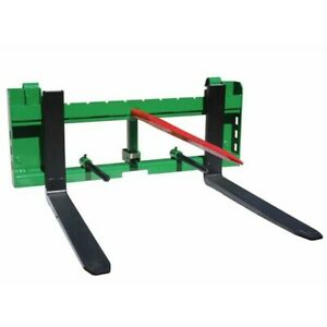 Titan 36 Pallet Fork Hay Bale Spear Attachment W Trailer Hitch Fits John Deere