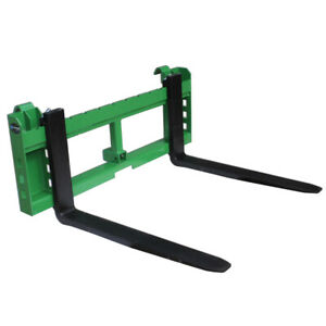 36 Pallet Fork Attachment With 2 Trailer Receiver Hitch Fits John Deere Loader