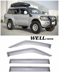 Wellvisors Side Window Visors Premium Series For 01 06 Mitsubishi Montero