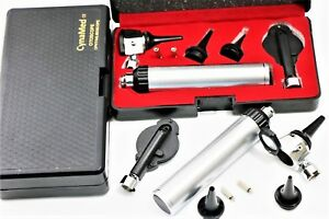 New Professional Physician Ophthalmoscope Otoscope Diagnostic Set 2 Free Bulbs