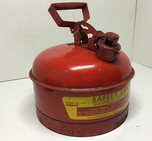 Vintage Eagle Type I Miners Safety Gas Can Red Metal 2 1 2 Gal Ui 25 s Fuel Can