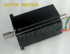 Cnc 4 lead Nema34 dual Shaft Stepper Motor 116mm 1230 Oz in 5a Stepping Motor