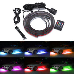 New Multi Color Smd 5050 Led Underbody Kit Under Car Glow Neon Strips 48 36