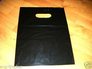 Lot Of 1000 9 X 12 Black Glossy Low density Plastic Merchandise Bags Gift Bags